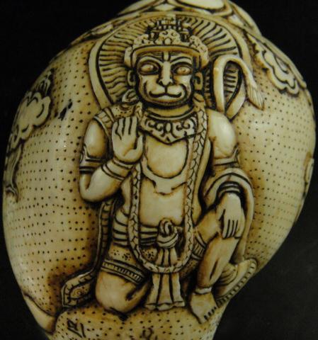 ◆チベット密教法具 法螺貝(シャンカ)・ハヌマーン
