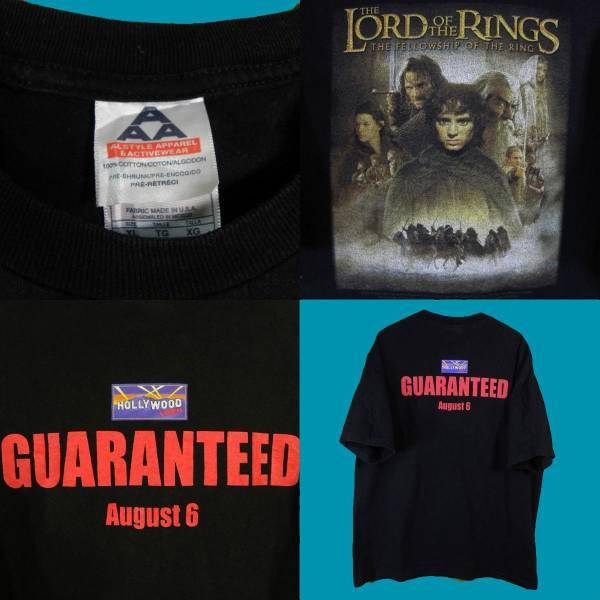 1276▼A A&A◆黒The Lord Of The Rings半袖Tシャツ◆US古着XL_画像3