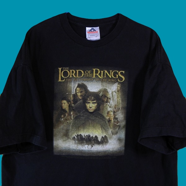 1276▼A A&A◆黒The Lord Of The Rings半袖Tシャツ◆US古着XL_画像1