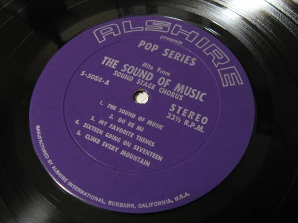 THE SOUND OF MUSIC/MARY POPPINS/WALT DISNEY'S/LP/S-5084_画像3