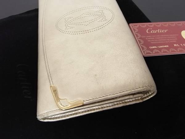 ♪カルティエ マルチェロドゥ シャンパンゴールド長財布 ♪♪_♪四角 端にスレあります♪