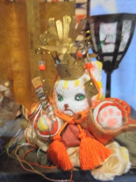石渡いくよ 猫の古布創作雛人形 ☆ 【送料無料】_画像3