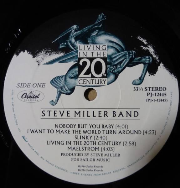 STEVE MILLER「LIVING IN THE 20TH CENTURY」 米ORIGステッカー有シュリンク美品_画像3
