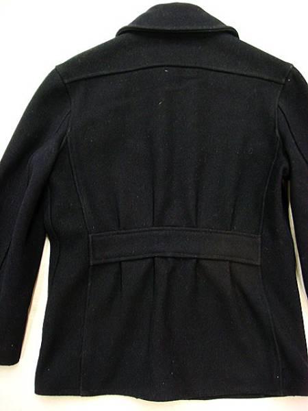 ビンテージ SHENANDOAH 「?」 アンノウン 40S ウール ジャケット コート 希少 サイズ 34 レザー トリム タロン 濃紺 希少 ウエスト 絞り_画像3