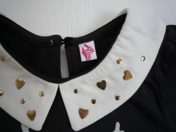 【新品・60%OFF!】■エマーブル/Aimable■ 衿付きTシャツ 100 黒_画像3