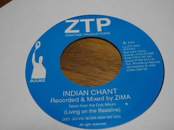 Zima [Indian chant] 7inch new roots EX reggae レゲエ ニュールーツ vintage ビンテージ record レコード uk イギリス アナログ analog _画像1