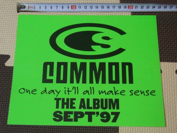 COMMON / ONE DAY IT'LL ALL MAKE SENSE ステッカー