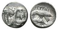 紀元前 古代ギリシャ 銀貨 双子の神ディオスクロイ 2