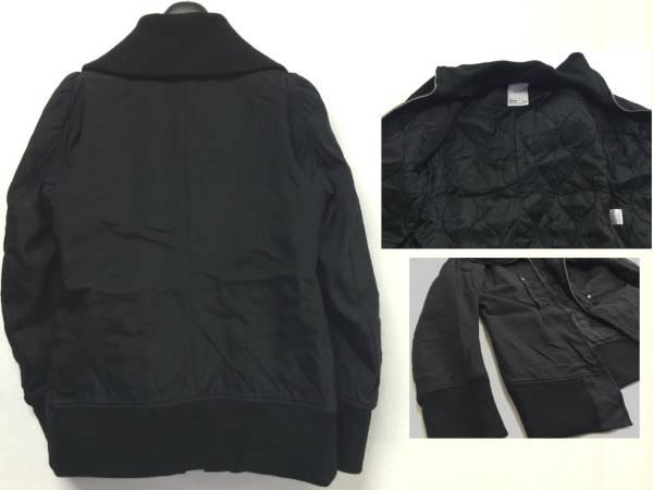 nude : masahiko maruyama ヌード マサヒコマルヤマ 中綿 ジャケット 極美黒 管理Z27_画像3