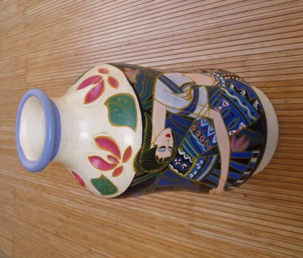 「北の古都」 花瓶中国 東南アジア 丁紹光 ティン シャオカン 珍品_画像1