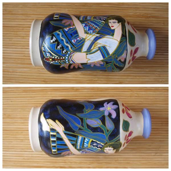 「北の古都」 花瓶中国 東南アジア 丁紹光 ティン シャオカン 珍品_画像2