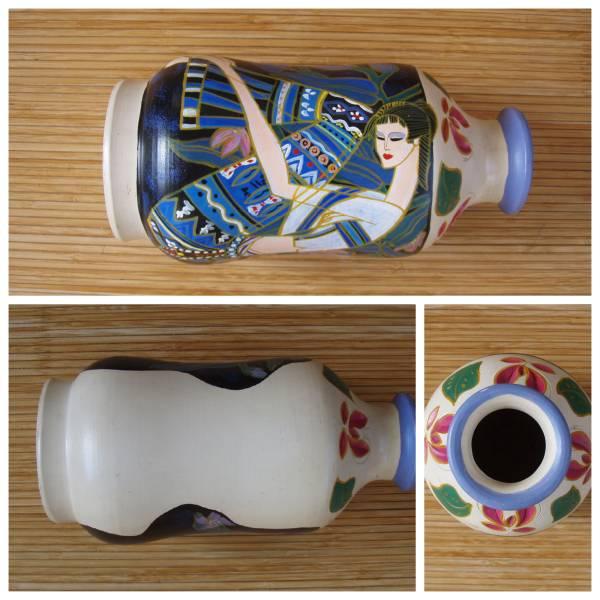 「北の古都」 花瓶中国 東南アジア 丁紹光 ティン シャオカン 珍品_画像3