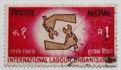 ネパール切手 ILO 国際労働機関 創立50周年記念 1969年 郵便 郵趣 ヒマラヤ 王国 アジア Nepal