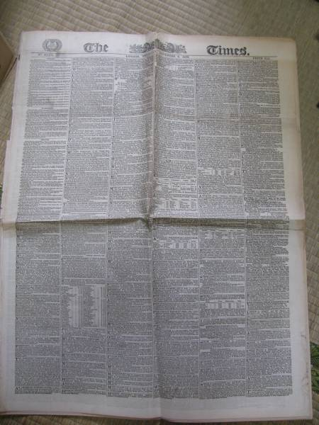 The Times タイムズイギリス19世紀 外国情勢 新聞幕末1_画像1