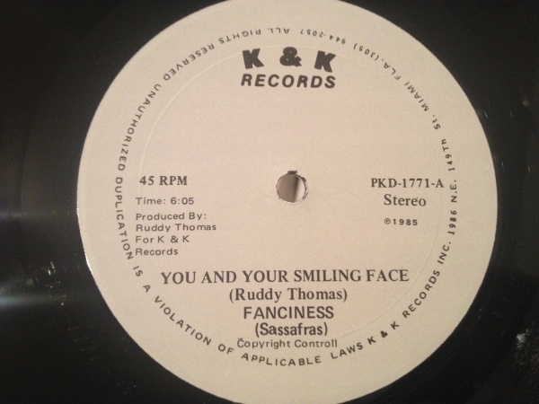 ★Ruddy Thomas/You And Your Smiling Face★レアLOVERS 12!
