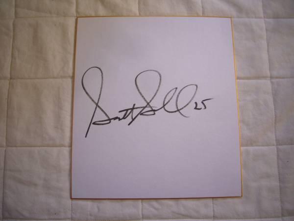 元 広島 東洋 カープ スコット シーボル #25 直筆 サイン 色紙