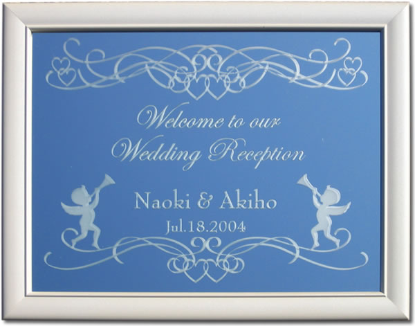 ウェルカムボード ミラー ウェルカムボード 表彫りタイプ 披露宴 結婚式 結婚祝いに 2_画像2