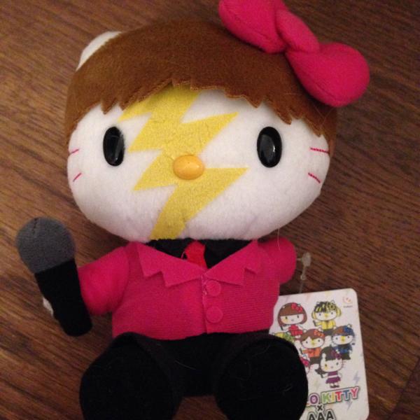 キティー ×AAA マスコット末吉秀太 桃 キティ え~パンダ 15cm