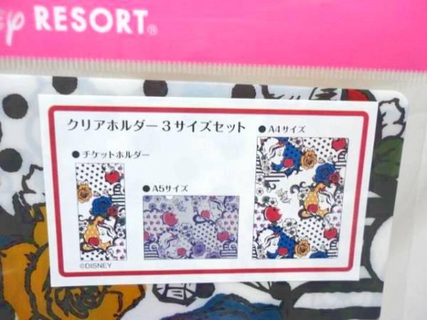 新品 TDR東京ディズニーリゾート 白雪姫 クリアホルダー3サイズ_画像2
