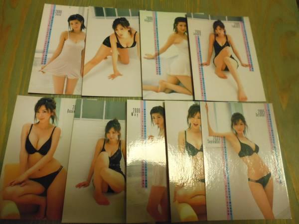 2005 HIT,s ほしのあき カレンダーカード9枚 グッズの画像