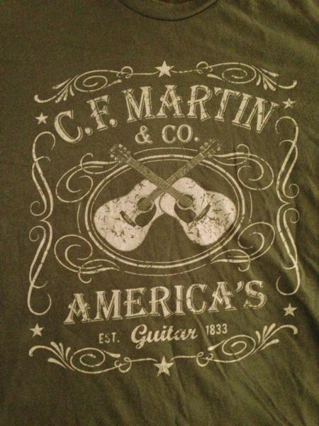 新品 martin ギター Tシャツ 検 斉藤和義 ギブソン グレッチ ライブグッズの画像