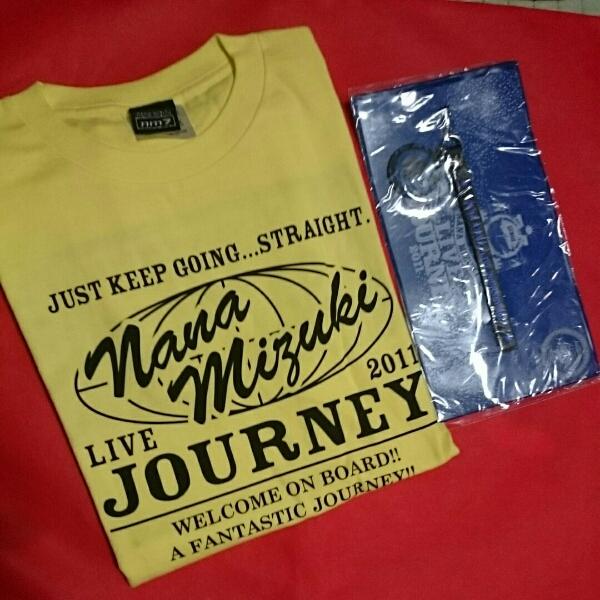★新品★水樹奈々さん 2011年ライブ イエロー 札幌半袖Tシャツ バックプリント ストラップ