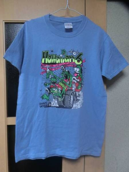 Hawaiian6ハワイアンシックス×PIZZ OF DEATHピザオブデス初期★激レア廃盤Tシャツ水色sizeM中古品バンT/バンドT/ライブT/フェスT