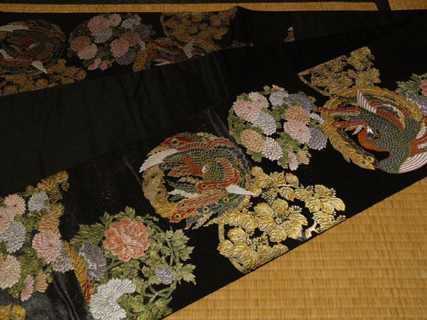 呉 正絹 新品・未仕立て品 証紙付き とみや織物謹製 袋帯 -六通-