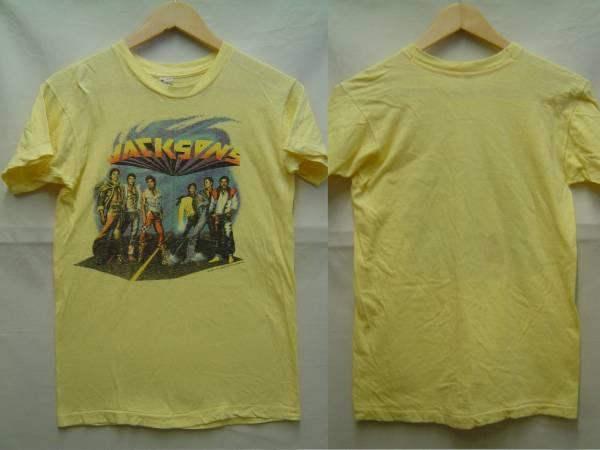 レア稀少80sビンテージJACKSONSマイケルジャクソンTシャツUSA製Mジャクソンズ ジャクソンファイブ ライブグッズの画像