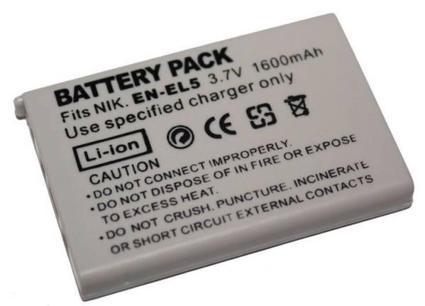 ニコン EN-EL5 1600mAh バッテリー CoolPix P100 P5000 P5100