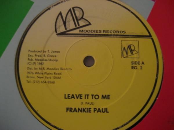 ■Frankie Paul/Leave It To Me■KILLER DIGITAL!_画像1