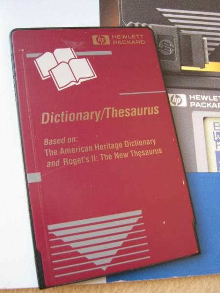 【電卓】HP95/100/200LX 英語辞書 シソーラス PCカード_画像2