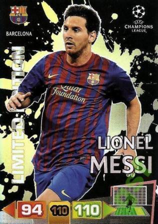 PANINI adrenalyn XL 11-12 CL LIMITED 限定カード メッシ FCバルセロナ サッカーカード MESSI_画像1