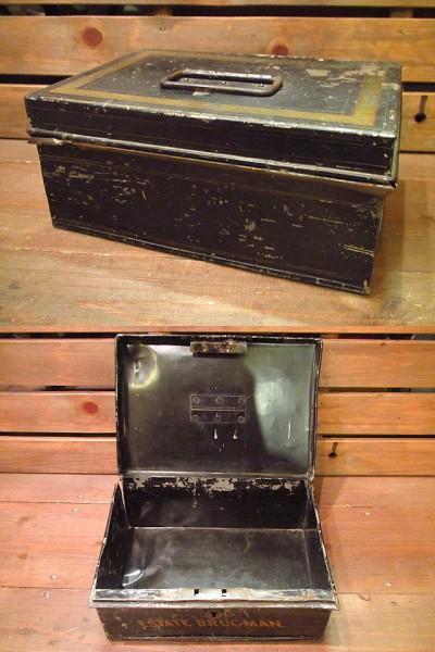 ビンテージ-30's★メタルボックス★10's20'sUSAアンティークBOX_画像2