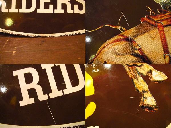 ビンテージ70's★Lee RIDERSメタルサイン★60's看板雑貨レトロ卸_画像3