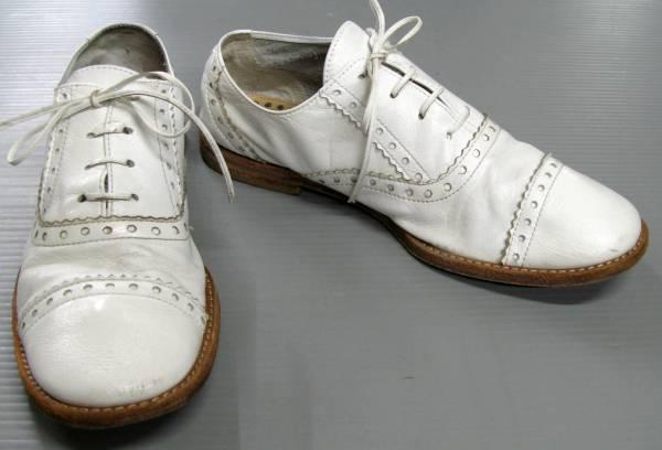 ジュンヤ コムデギャルソン:レザーシューズ/革靴 白_画像1