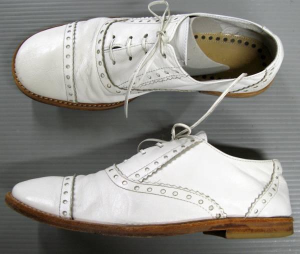 ジュンヤ コムデギャルソン:レザーシューズ/革靴 白_画像2