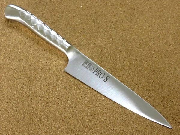 関の刃物 ペティナイフ 13cm (130mm) PRO-S モリブデンスチール 1K-6 鍔付一体型包丁 果物包丁 野菜 果物の皮むき 小型両刃ナイフ 日本製