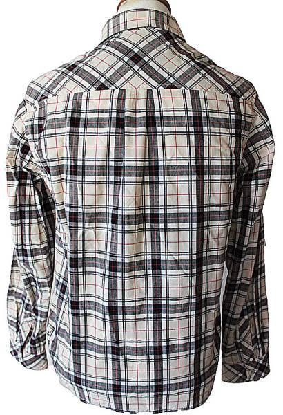 275美品イーストボーイ★ロゴ刺繍チェック柄長袖シャツ ブラウス_画像3