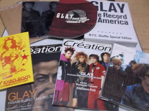 △ GLAY グレイ ツアーパンフ・写真集等8冊セット