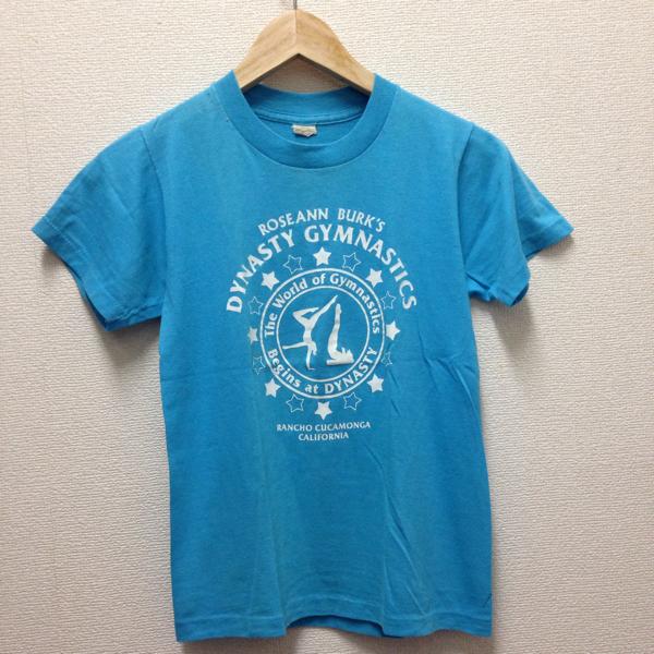 80's ヴィンテージ ダンスTシャツ カルフォルニア made in USA アメリカ製 ターコイズ_画像1
