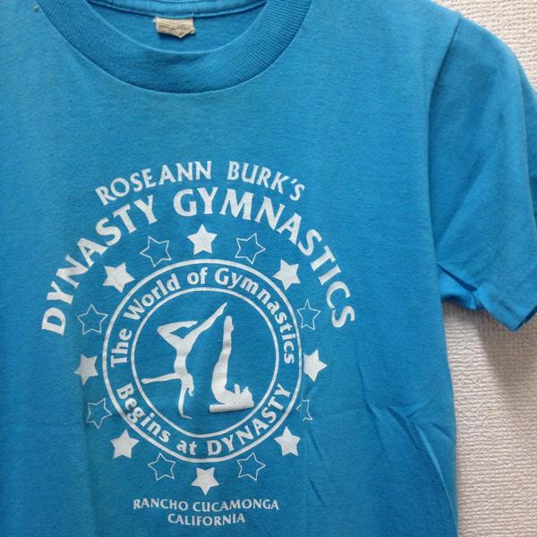 80's ヴィンテージ ダンスTシャツ カルフォルニア made in USA アメリカ製 ターコイズ_画像2