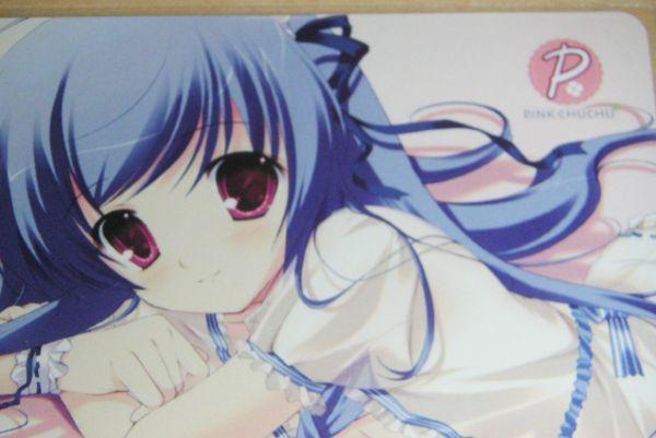 ■コミケ77 みけおう PINKCHUCHU 亞里亞抱き枕カバー特典テレカ_画像2