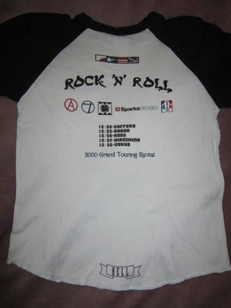超激レア! PUFFY パフィー ROCK'N ROLL 2000 GTR ロックンロール 5分袖 Tシャツ 白/黒 Jr.L