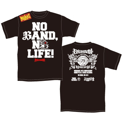 BRAHMAN×MOBSTYLES×TOWER RECORDS NO BAND, NO LIFE! Tシャツ ライブグッズの画像