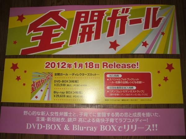 【販促看板HD】 全開ガール/新垣結衣 錦戸亮 非売品!