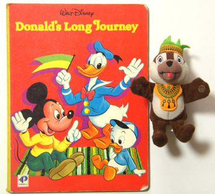 英国購入1984's ドナルド絵本 & UKマックの チップ SET/Disney,バンビ,レトロ ディズニーグッズの画像