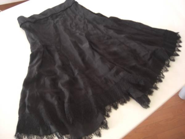 美品アバハウスドゥヴィネット レーススカート黒 サイズ1_画像1