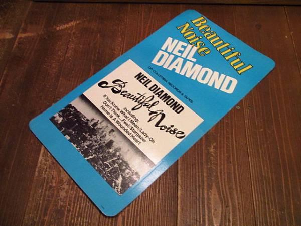 70's★NEIL DIAMONDディスプレイカード★ニールダイアモンド音楽