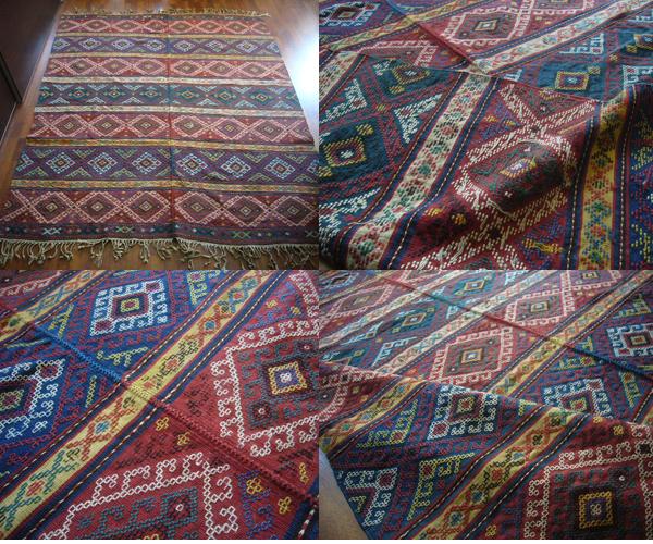 コーカサスアンティークヴェルネジジム総草木染コレクション送込もはやトルコでも見つからないアンティークの逸品です。貴重_本当に素晴らしいヴェルネキリム総草木染め